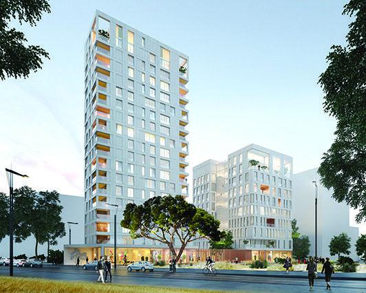 Vizio un nouvel immeuble de logements et de bureaux à euronantes
