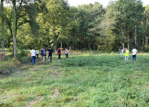 Futurs paysagistes en visite sur le site du Champ de Manœuvre