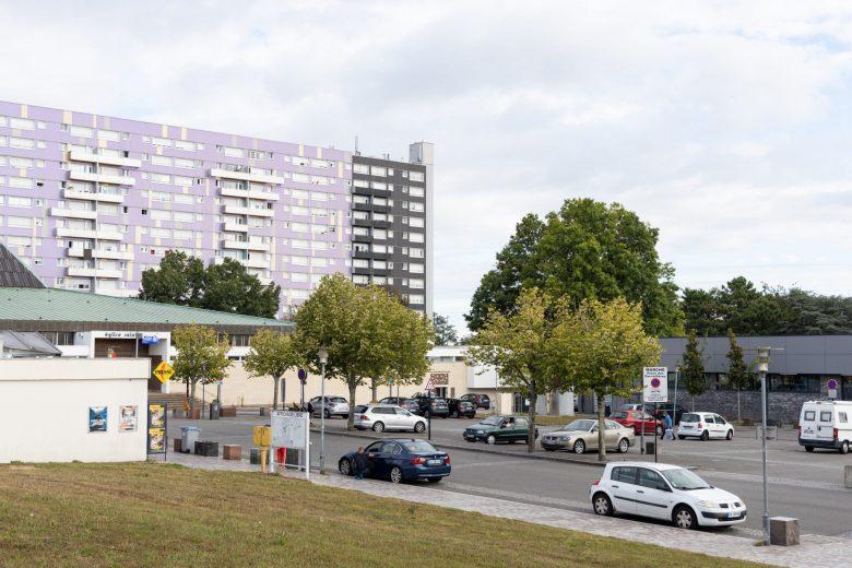 Place des Dervallières avant rénovation